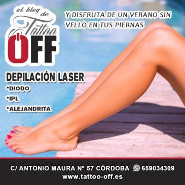 Depilación laser de las piernas en Córdoba | TATTOO OFF