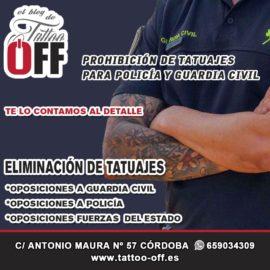 Borrarse los tatuajes para policía o guardia civil ¿Obligatorio?